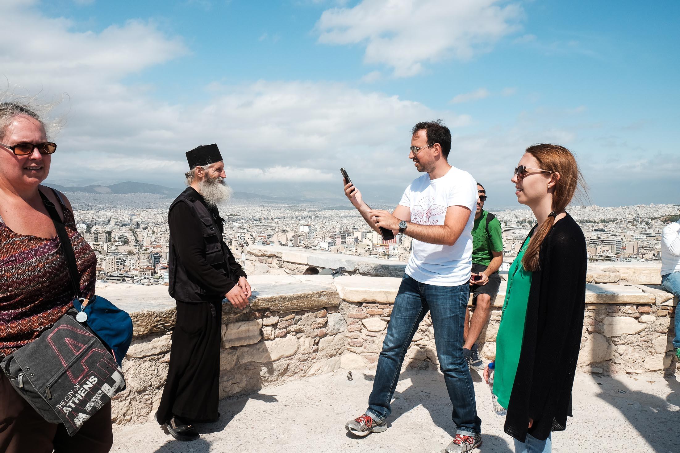 православные священники в Греции