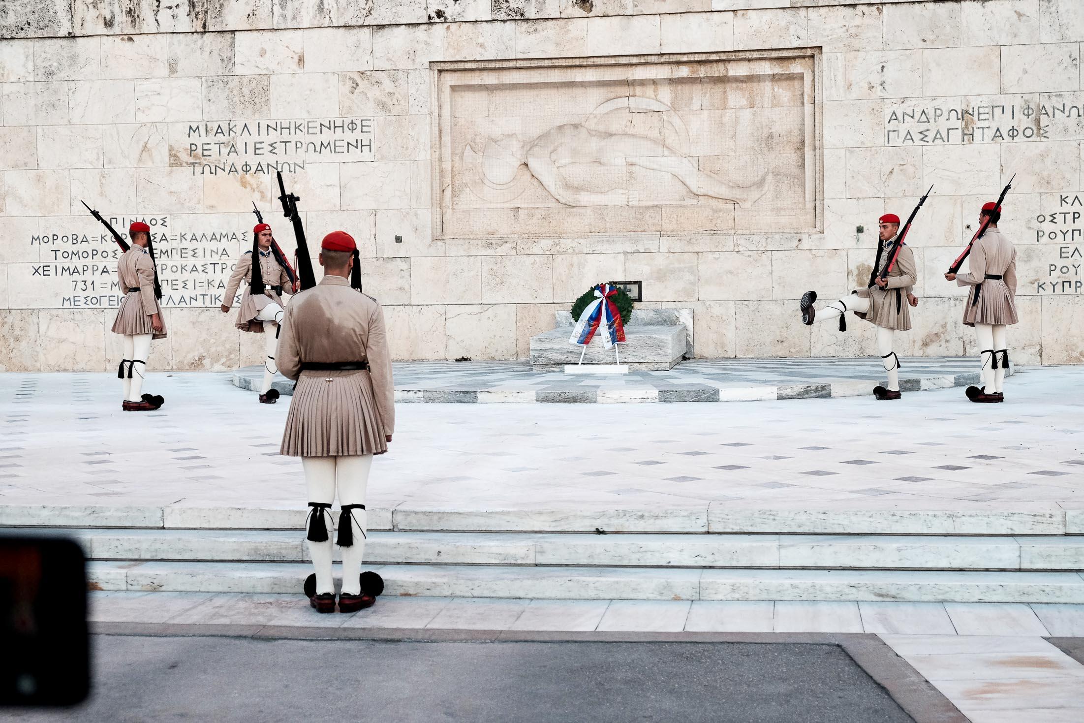 президентская стража в Афинах Сингтагма