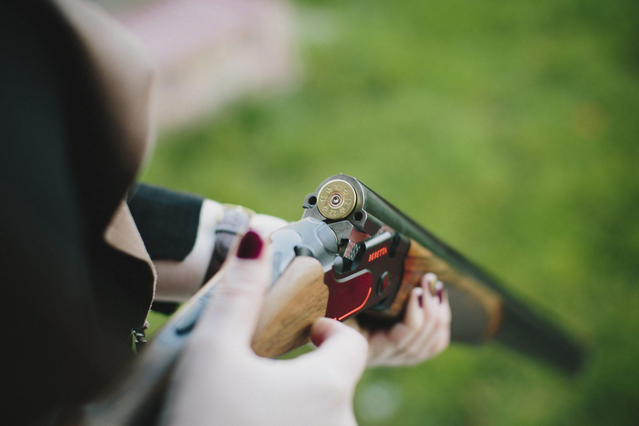 ружье для стрельбы по тарелкам
