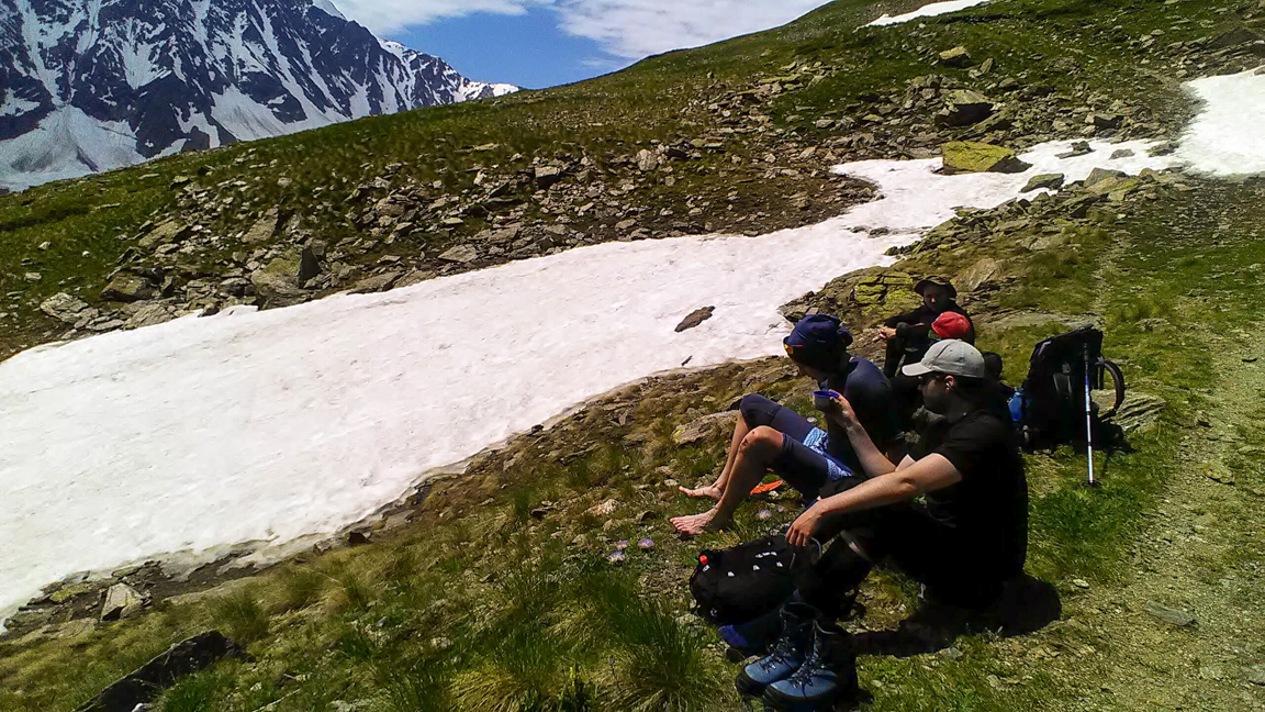 relax during climb Cheget