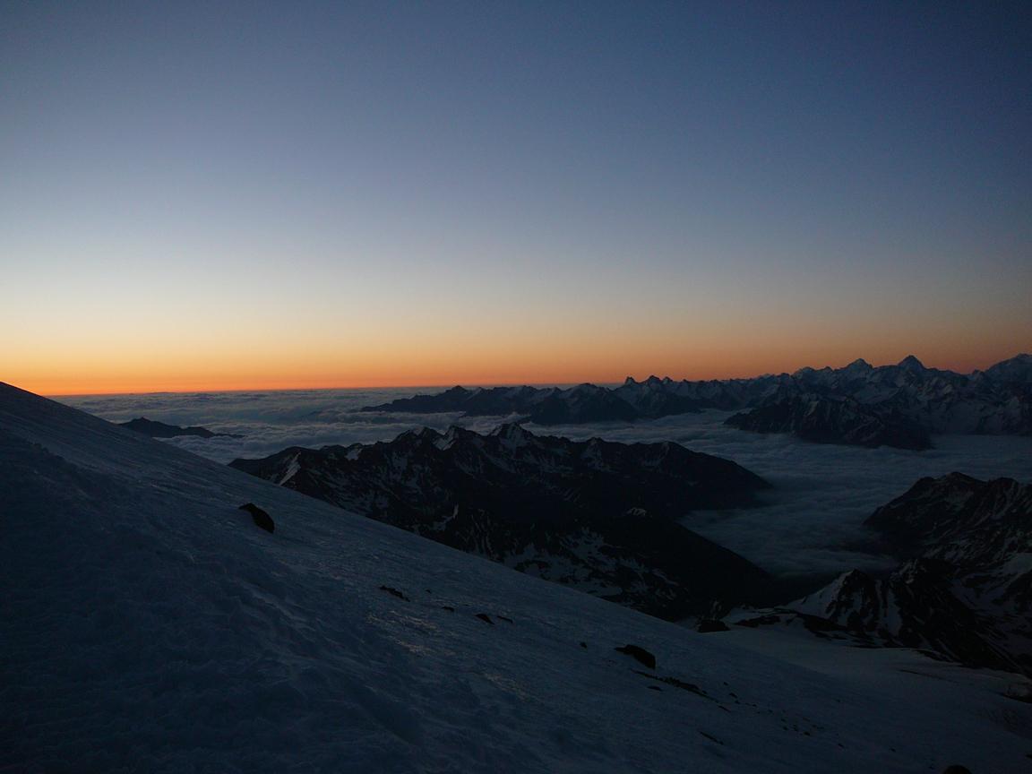 Elbrus sunset