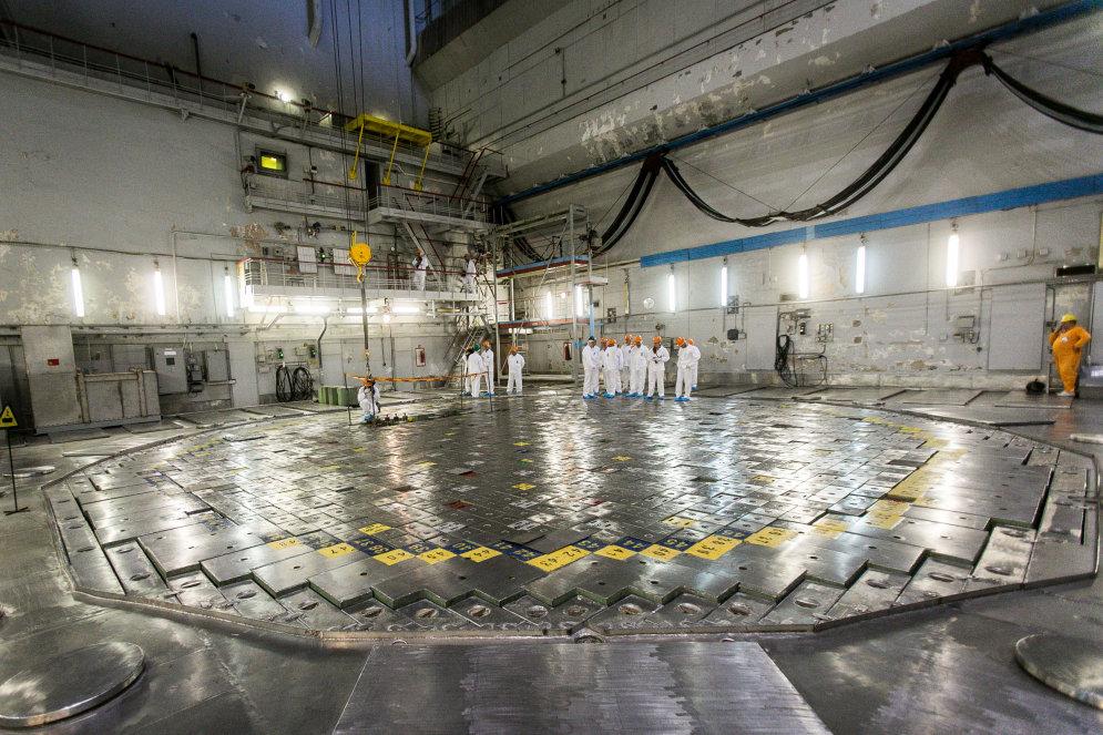 реакторный зал игналины внутри