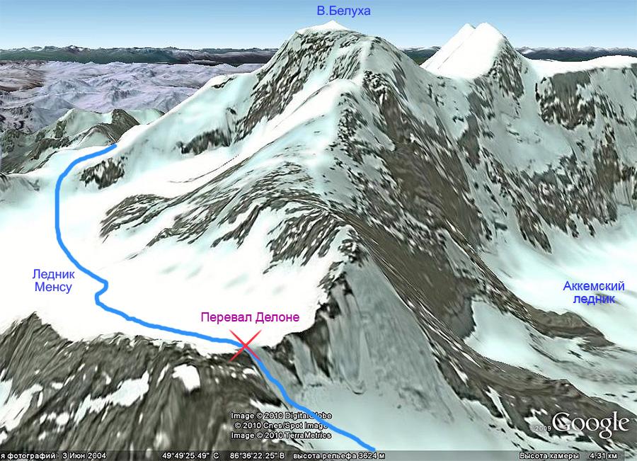 маршрут на Белуху