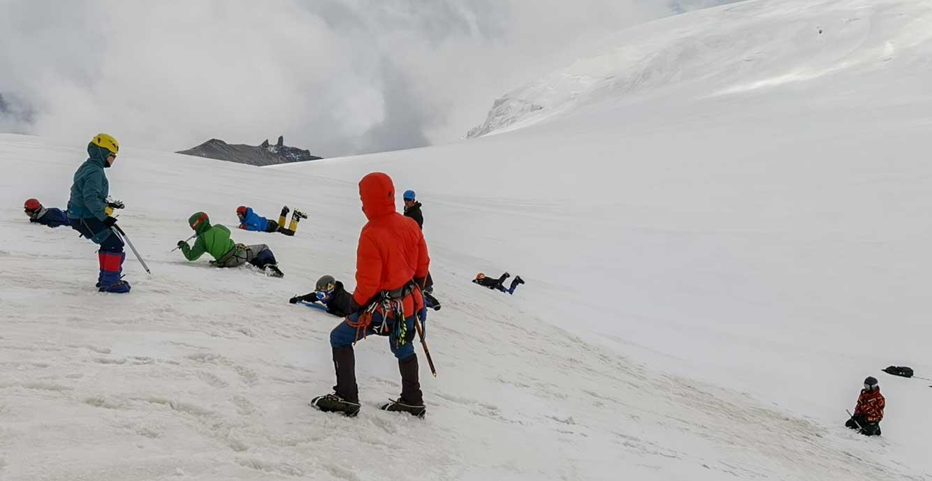 снежно ледовые занятия казбе
